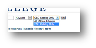 Select the catalog you want to search.